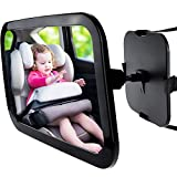 Zacro Baby Car Mirror, Shatter-Proof Acrylic Baby Mirror for Car, Rearview Baby Mirror-Easily to Observe the Babys Every Move, Safety and 360 Degree Adjustability
