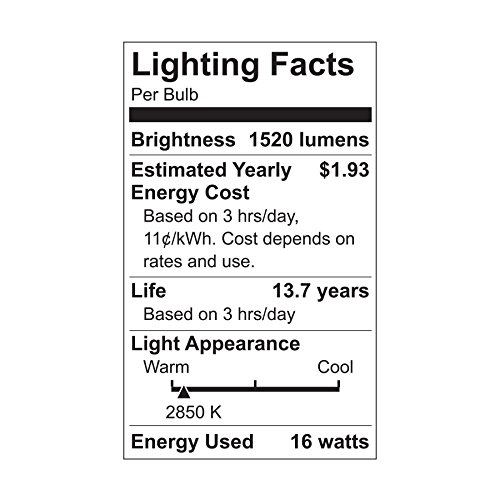 GE Lighting 32304 LED Bright Stik 15-watt (100-Watt Replacement), 1520-Lumen Light Bulb with Medium Base, Soft White, 2-Count