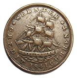 "1841 Daniel Webster ""Millions for Defence"" Not One Cent Hard Times Token High Grade"