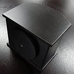 Ralph TV Remote Control Spinning Caddy - Revolving Wood Valet Organizer for Television Remotes - Black