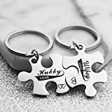 Kingmaruo Couples Puzzle Piece Stainless Steel