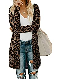 Women's Open Front Cardigan with Pockets Long Sleeve Lightweight Coat