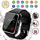 Smart Watch,Bluetooth Smartwatch Touch Screen Wrist Watch with Camera/SIM Card Slot,Waterproof Smart Watch