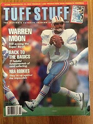 Tuff Stuff Feb 1992 Warren Moon Oilers
