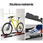 hmc-Rullo-Bici-Allenamento-Lunghezza-Regolabile-145x56x105-cm-Nero-e-Rosso