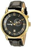 Best Akribos XXIV Popular Watches - Akribos XXIV Men's AK595YG Swiss Leather Strap Date Review