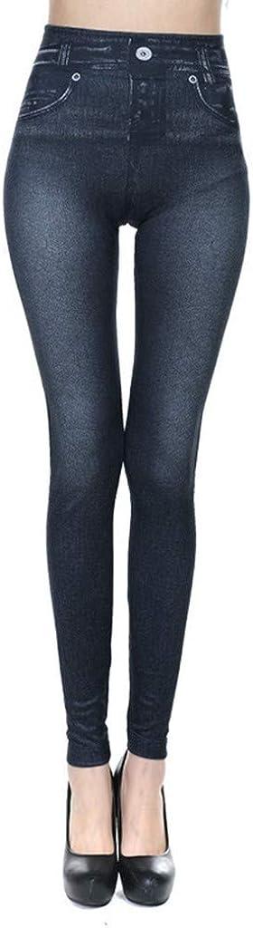 Winsummer Womens Basic Pocket Stretch Legging Tights Pants High Waisted Yoga Capri Pant Plus Size Skinny Pants