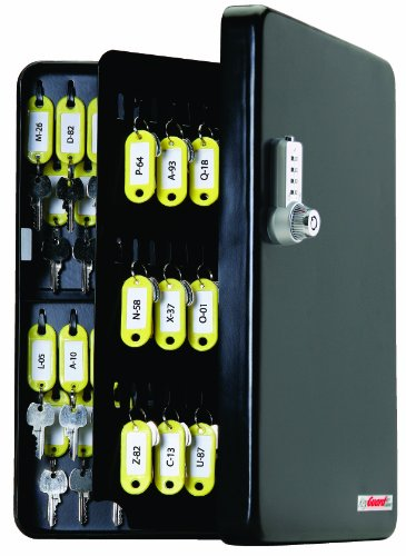 Keyguard Sl 9122 U Dual Access Combination Key Cabinet With Chrome 4 Dial Combi Cam Ultra   122 Hook