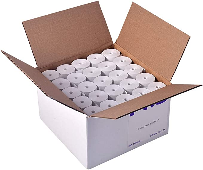 Pack 12 rolls Receipt Paper for Square POS Thermal Printer