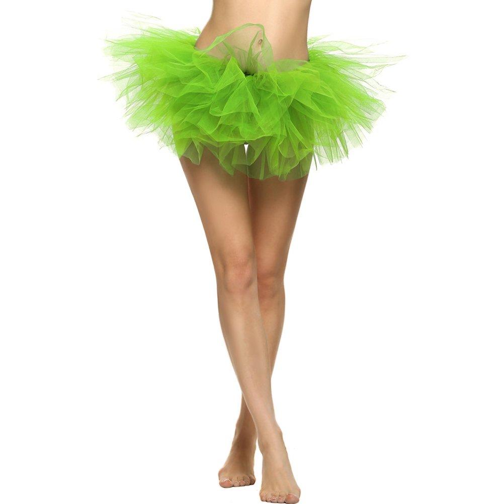 Tinksky Las Mujeres Tutus Falda Tul en Capas Falda de Ballet Danza ...