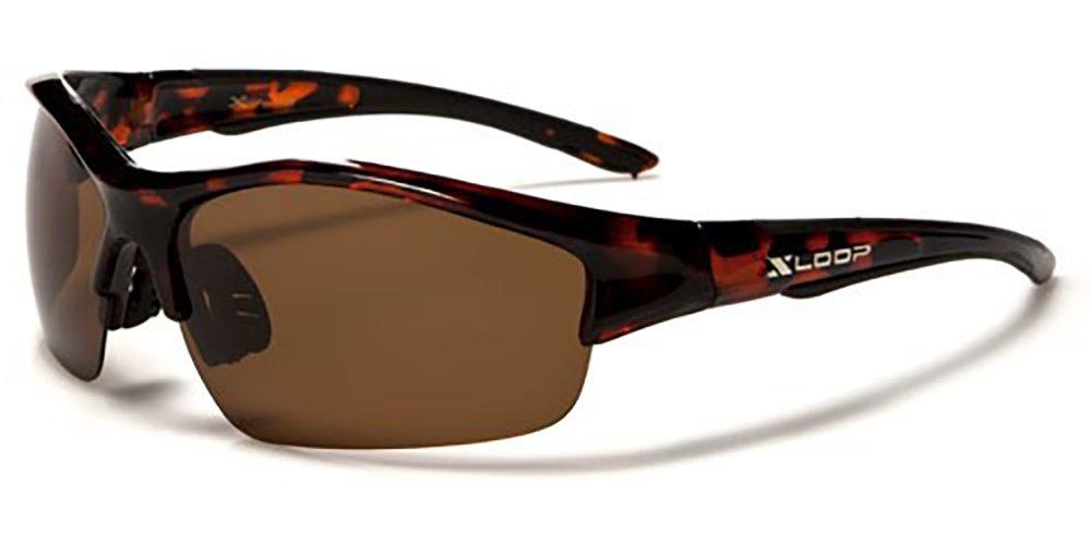 X-Loop Sport- und Skisonnenbrille inkl. (mit Etiketten, UV 400(UVA und UVB) zum Radfahren, Skifahren, Snowboarden, alle (inkl. Etui)