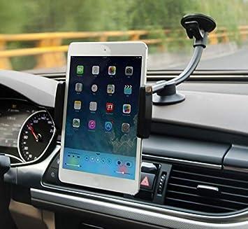 Zuwit - Soporte de coche con ventosa para Apple iPhone, iPad, tablet y otros dispositivos (cuello flexible, rotación de 360º): Amazon.es: Electrónica
