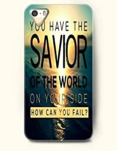iPhone 5c 5c Case OOFIT Phone Hard Case ** NEW ** Case with Design You Have The Savior Of The World On Your Side How Can You Fail?- Spiritual Inspiration - Case for Apple iPhone 5c hjbrhga1544