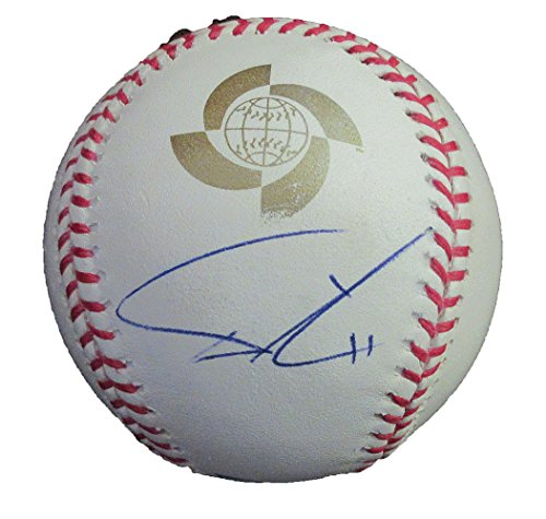 Yu Darvish Autographed 2009 World Baseball Classic Baseball W/PROOF, Picture of Yu Signing For Us, Team Japan, Texas Rangers