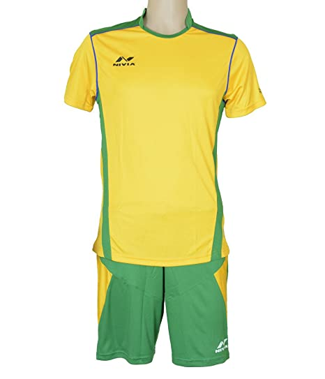 3002e8e5b3f Buy NIVIA Radar Football Jersey Set Green Yellow Online at Low Prices in  India - Amazon.in