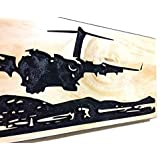 Valentines Day Gifts For Him C-17 Military Airplane Carved Wood Sign Airplane Decor