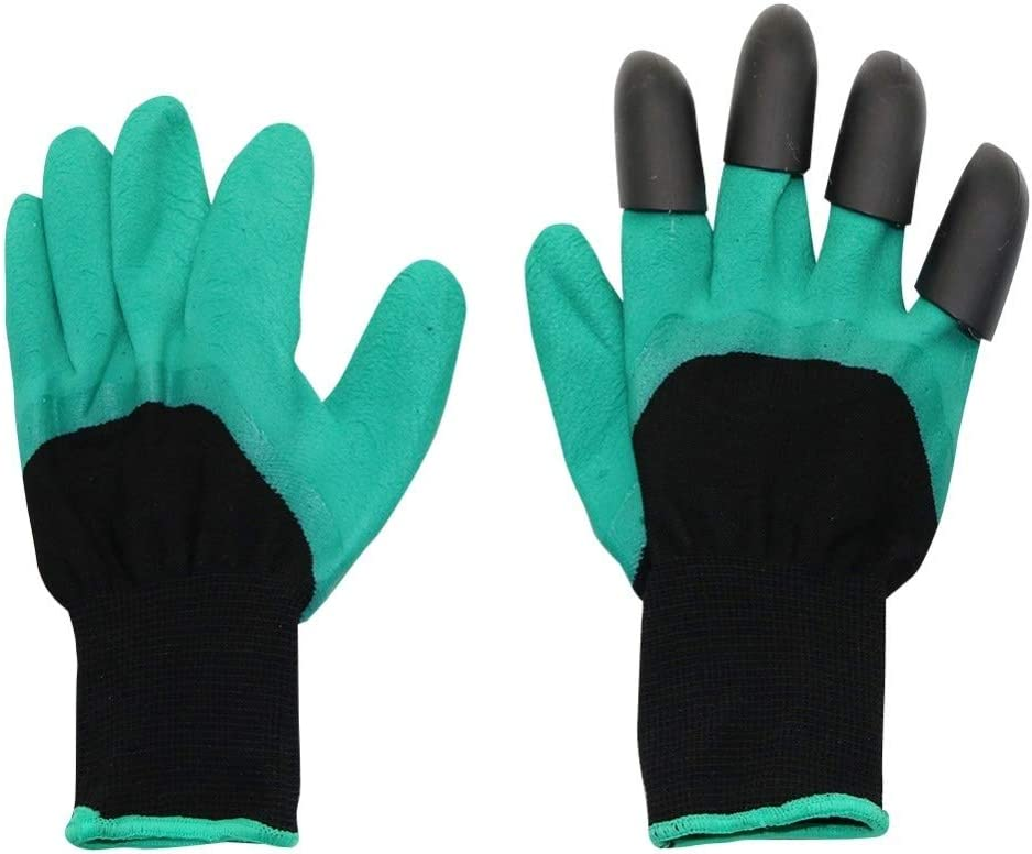Gants de jardin avec Fingertips Griffes for Dig usine de jardinage Gants Plantation /Élagage Rose Mitaines Creuser Gants