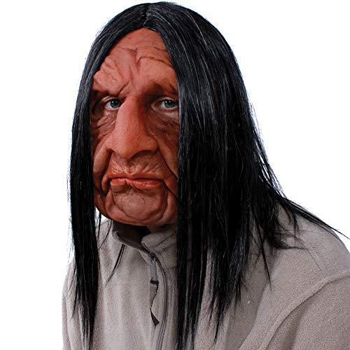 Roadie Old Man Rocker Latex Mask - Halloween Costume - Shoulder Length -