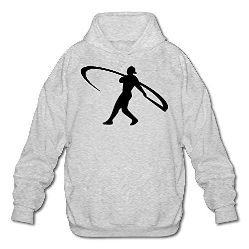 XJBD Men's Ken Griffey Jr. Handsome Sweater Ash Size M (Crock Pot Junior)