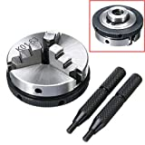 1pc K01-63 63mm 3 Jaw Metal Lathe Chuck 2.5'' M14 Mini Metalworking Machine Accessories Tool with 2pcs Rods