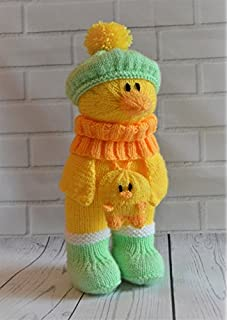 Knitting pattern quacky baggles easter gift bag amazon toys knitting pattern duck in boots ideal easter pattern from knitting by post negle Images