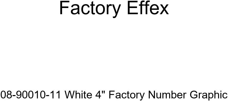 Factory Effex 08-90000-01 Black 4 Factory Number Graphic