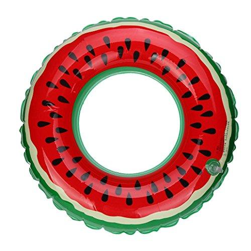 Hot Sale! CYCTECH Summer Spring Women Men Adult Swimming Pool Inflatable Watermelon Swim Ring Fruit Swim Ring Floats Tube Raft,Best Birthday Present,Gift (A-60cm) Springs Swimming Pool