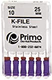 Primo Dental Products EFK2508 K-File, 25 mm, 08 (Pack of 6)