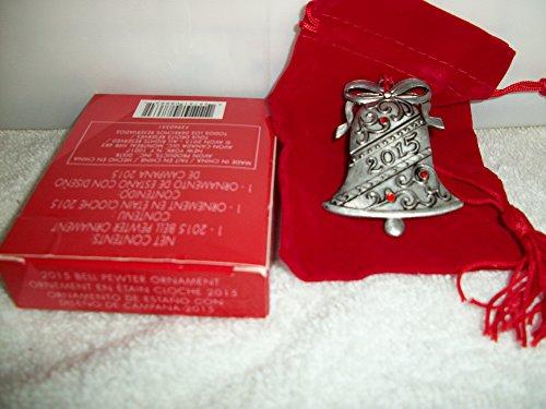 Pewter Christmas Bells Ornament (Avon 2015 Bell Pewter Ornament)