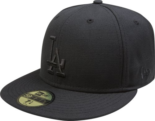 a2876211ad8 MLB Los Angeles Dodgers Black on Black 59FIFTY Fitted Cap