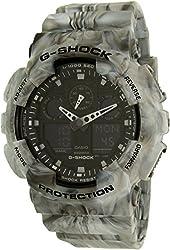 Casio G-Shock Black Dial Resin Quartz Men's Watch GA100MM-8A