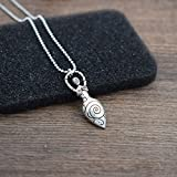 SanLan Spiral Goddess Pendant Necklace Amulet