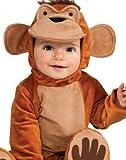 Rubie's Costume Cuddly Jungle Funky Monkey Romper Costume, Tan, 12-18 Months