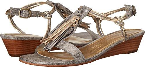 Bernardo Women's Court Wedge Sandal Silver/Gold Metallic 5 M US