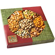 Oh! Nuts® Exotic Snacks Party Assortment Food Gift Set   Christamas Holiday or Family Game Night Basket   Unique Snack Gift Basket, Spicy & Hot Cajun Flavors Mix Tray- Thanksgiving Day Gift Baskets
