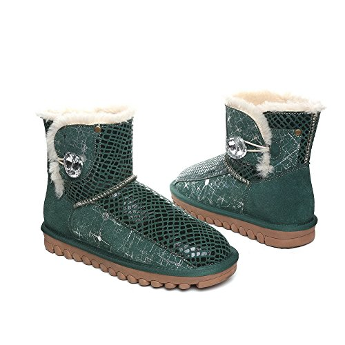 BalaMasa  Abl09829, Bottes de Neige femme - Vert - Green,