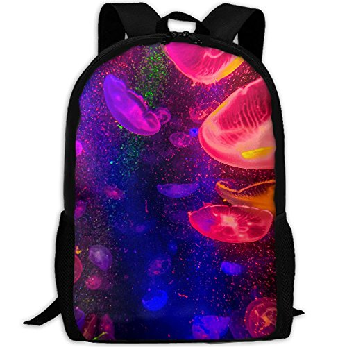 CY-STORE Animal Jellyfish Print Custom Casual School Bag Backpack Travel Daypack Gifts by CY-STORE