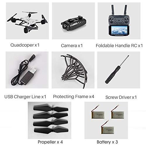 Huihuiya KY601S Mit RC Drone 1080P Kamera Schwerkraftsinn 20 Minuten mit DREI BatteryWeiß-