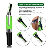 All in One Hamer Grade Precision Battery Powered Eyebrow Nose Ear Facial Hair Precision Trimmer/Groomer, (As seen on TV) Eyebrow Trimmer with LED Light for Men and Women.