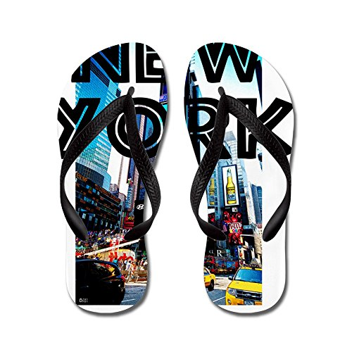 CafePress - Newyork_12X12_Timessquare - Flip Flops, Funny Thong Sandals, Beach - Stores Fashion York New District