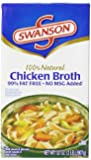 Swanson Chicken Broth, 32 Ounce Cartons (Pack of 12)