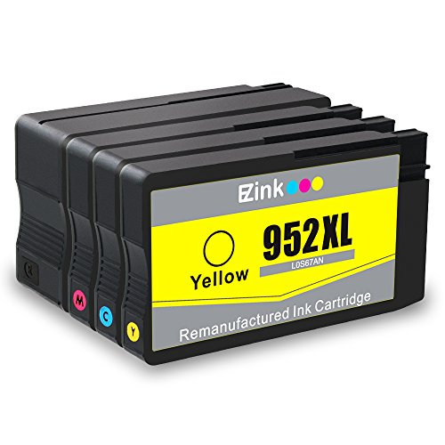 E-Z Ink (TM) Remanufactured Ink Cartridge Replacement for HP 952 XL 952XL for HP OfficeJet Pro 8710 8720 8740 7740 8200 8210 8216 8700 8715 8725 8728 8730 (1 Black, 1 Cyan, 1 Magenta, 1 Yellow) 4 Pack