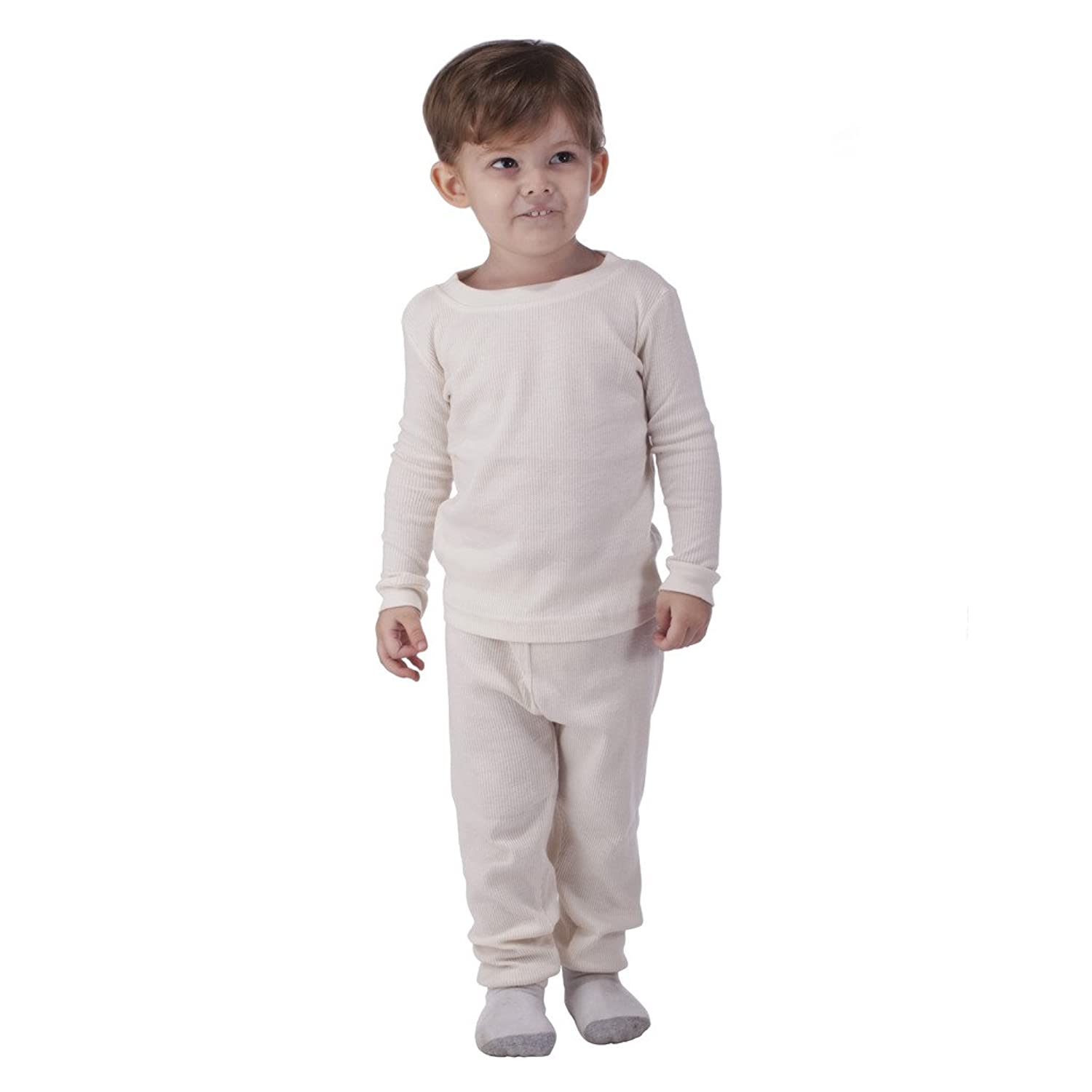 Boys' underwear is made to feel comfortable all day long and features elastic waistbands and breathable cotton that provide extra support and can help keep him cool, even underneath a boys' school uniform. Whether he's wearing a button-down and khakis or jeans and a t-shirt, it's important to slip a few pairs of boys' long underwear and thick.