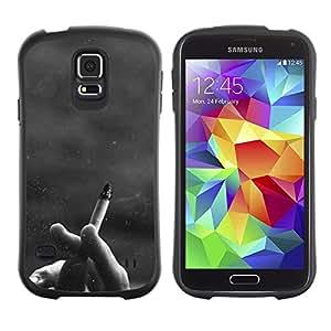 Suave TPU GEL Carcasa Funda Silicona Blando Estuche Caso de protección (para) Samsung Galaxy S5 / CECELL Phone case / / Cigarette Black White Hipster /