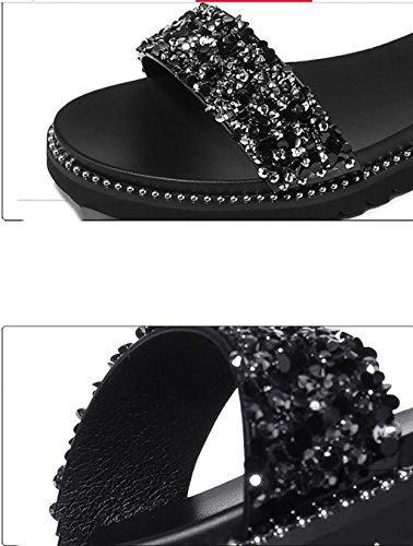 Verano Fafz Femeninas Tamaño Planas Sandalias De Antideslizantes 34 A Moda Coreanas color Simples sandalias B Planas ggIwn