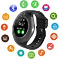 Bluetooth Smartwatch Support Micro SIM Card with Fitness Tracker Pedometer Smart Watch for Android iPhone Samsung HTC Sony HUAWEI LG Smartphone
