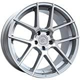 19' UP520 Staggered Wheels Set fits BMW in Silver Machined Face 19x8.5 and 19x9.5 UP Wheels Rims 5x120 +35 +33 by Ultimate Performance Wheels
