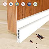 Self Adhesive Door Bottom Seal Strip,YIJU Anti Noise and Insect Prevention Weatherstrip, 2'' Width x 36'' Length