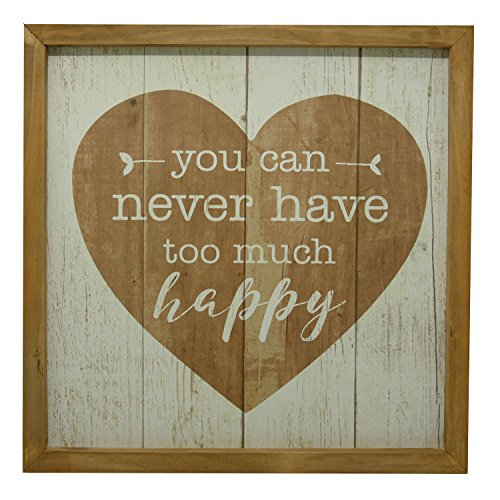 NIKKY HOME Decorative Wood Framed Wall Sign with Inspirational Quote You can Never Have Too Much ()