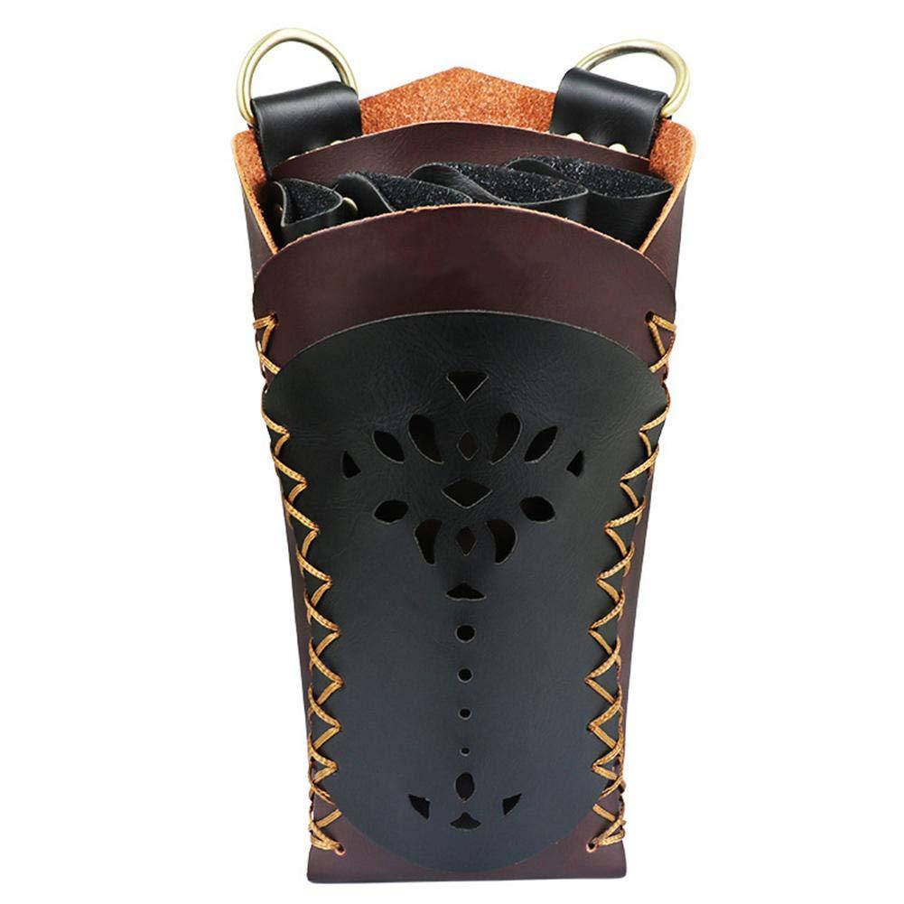 Bulary Cuoio Cuoio Stilista Forbici Borsa Marsupio Custodia a tracolla Scissor Pouch Holster con cintura per parrucchieri Parrucchiere Tasche porta attrezzi